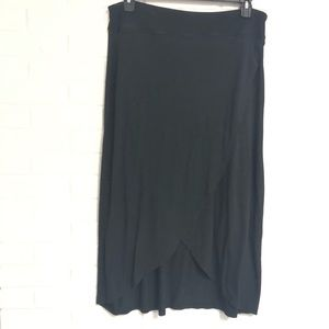 Athleta Large Black Wrap Skirt